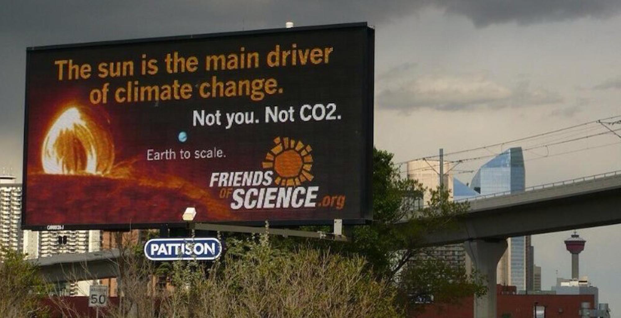 Friends of Science billboard_credit Greenpeace Canada