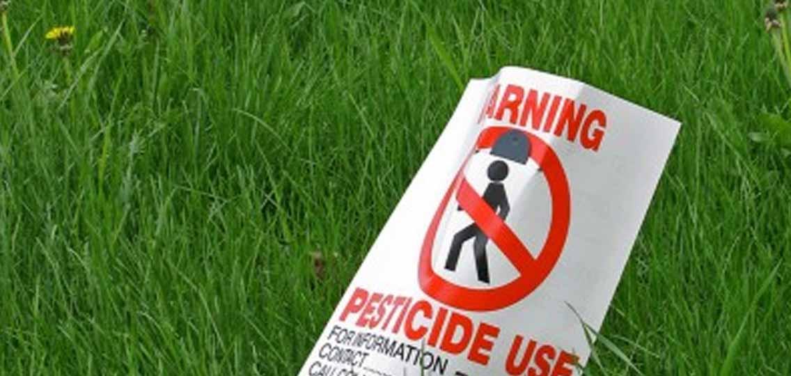 Pesticicide sign