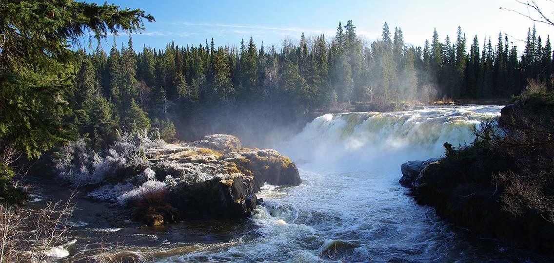 Manitoba waterfall
