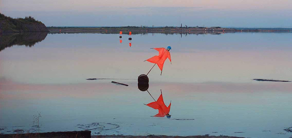 Tailings ponds scarecrow by Aaron Vincent Elkaim