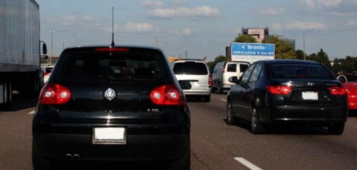 Volkswagen car in traffic