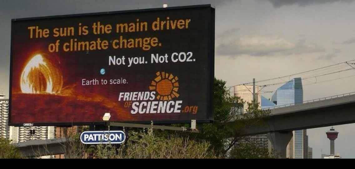 Friends of Science billboard