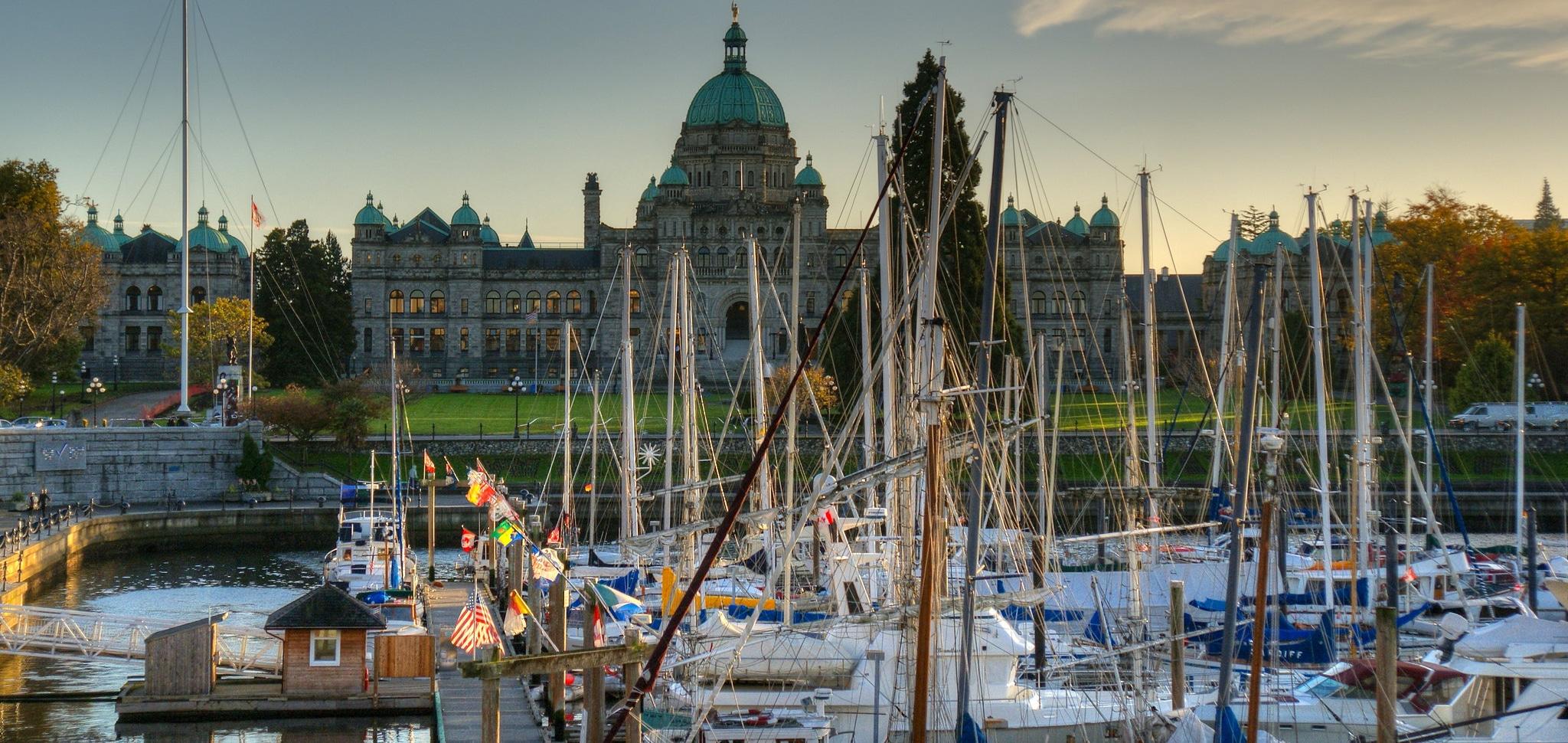 Provincial legislature in Victoria, B.C.